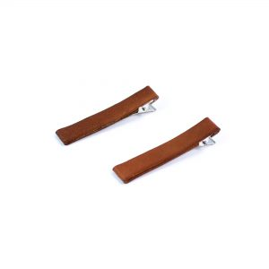 The leather hair barrette