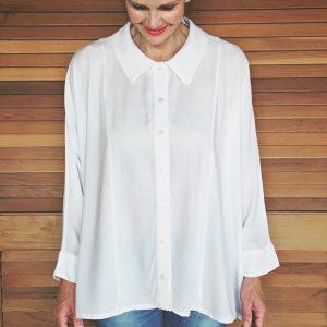 Oversized woven shirt