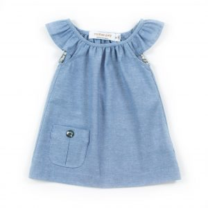 Baby flutter blouse chambray
