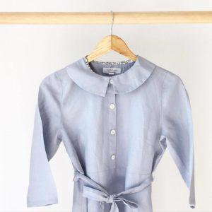 Mother classic collar dress