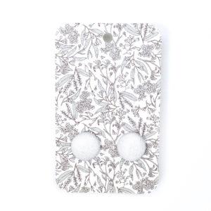 White linen earrings