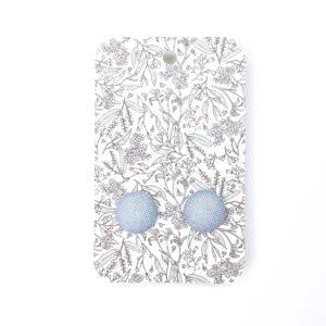 Chambray linen earrings