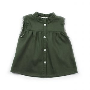 daughter high collar green