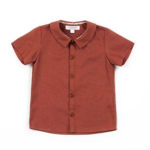 Rust unisex classic collar