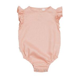 Gatherer Baby Romper in Luxe linen